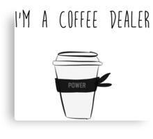 Coffe Dealer Ninja Canvas Print