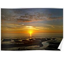 Bispham Sunset near Blackpool Poster