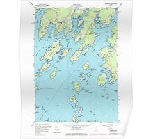 Maine USGS Historical Map Friendship 105150 1955 24000 Poster