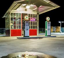 Gas Station Reflection by James Eddy