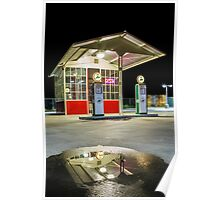Gas Station Reflection Poster