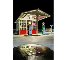 Gas Station Reflection Photographic Print