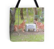 Aussy comedt a dingoes breakfast Tote Bag