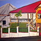 Old Queenslander Highgate Hill Brisbane  by gillsart