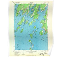 Maine USGS Historical Map Friendship 806713 1955 24000 Poster