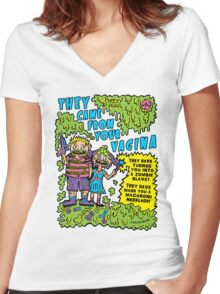 They Came From Your Vagina Women's Fitted V-Neck T-Shirt