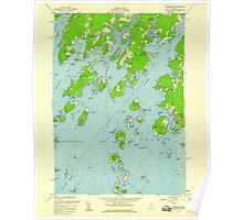 Maine USGS Historical Map Friendship 806714 1955 24000 Poster