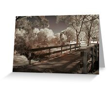 Wooden Bridge Greeting Card