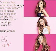 Ariana Grande Quote design by ellesworld