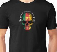Dj Skull with Cameroon Flag Unisex T-Shirt