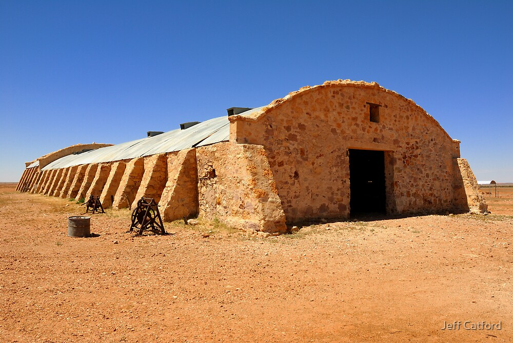 Woolshed - Cordillo Downs Station - NE South Australia by Jeff Catford
