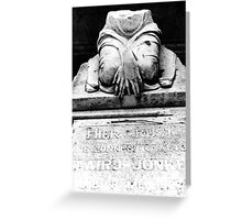 silence grave Greeting Card