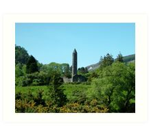 St.Kevin's Church and Round Tower. Art Print