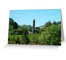 St.Kevin's Church and Round Tower. Greeting Card