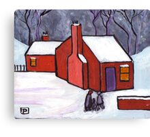The little red house Canvas Print