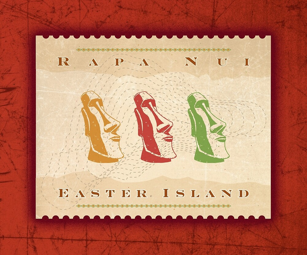 Easter Island by spikemandesigns