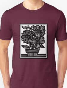 Antebellum Flowers Black and White Unisex T-Shirt