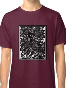 Onomatopoeia Flowers Black and White Classic T-Shirt