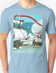 The Great Discoveries - Three Galleons Sailing T-Shirt
