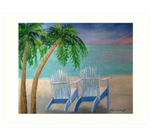 Poppy's Palm Trees Art Print