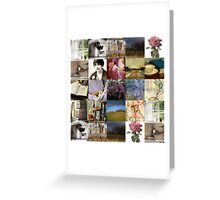 Nature and Poetry Collage Greeting Card