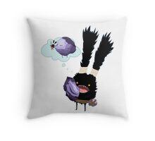 Dust Bunny Dreams Throw Pillow