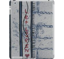 let love in (red glitter) iPad Case/Skin