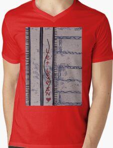 let love in (red glitter) Mens V-Neck T-Shirt