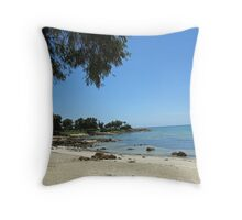 dunsborough beach Throw Pillow