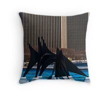 Monster left High and Dry. Throw Pillow
