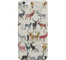 oatmeal spice deer iPhone Case/Skin