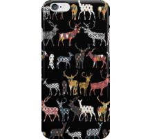 charcoal spice deer iPhone Case/Skin
