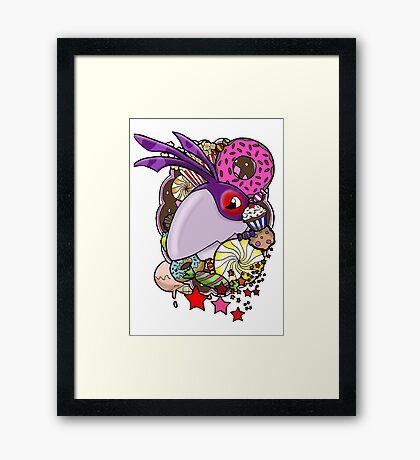 Viva Pinata - Crowla Collage! Framed Print