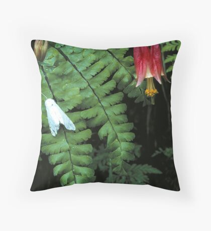 COLUMBINE AND MOTH,GREAT SMOKY MOUNTAINS Throw Pillow