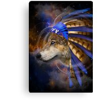 Fight For What You Love (Chief of Dreams: Wolf)  Canvas Print