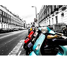 Mopeds Photographic Print