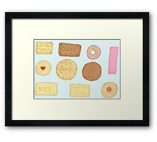 Best of British Biscuits. Framed Print