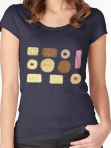 Best of British Biscuits. Women's Fitted Scoop T-Shirt