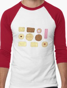 Best of British Biscuits. Men's Baseball ¾ T-Shirt