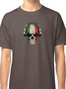 Dj Skull with Italian Flag Classic T-Shirt