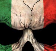Dj Skull with Italian Flag Sticker
