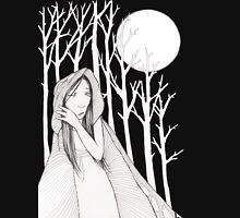 Moonlight in the Woods Womens Fitted T-Shirt
