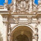 Stylized photo of Spanish architecture arch near Plaze de Panama in Balboa Park, San Diego CA. by NaturaLight