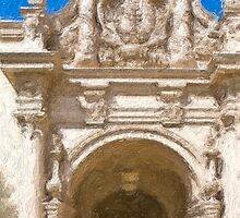 Stylized photo of Spanish architecture arch near Plaze de Panama in Balboa Park, San Diego CA. by NaturaLight