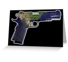 DoubleStar M1911, Earth Gun, Pistol, 2nd Amendment, USA Greeting Card