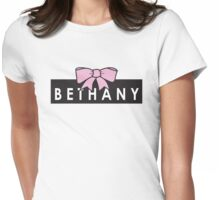 bethany mota bow Womens Fitted T-Shirt