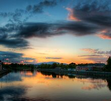 Sunset on the Suir by Evan Shortiss