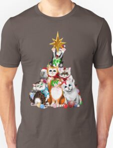 Christmas Tree Kittens Unisex T-Shirt