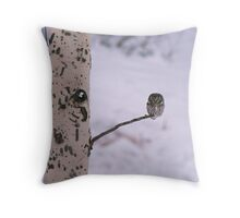 BOREAL OWL Throw Pillow