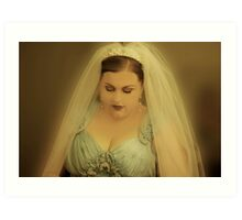 Heather is a Beautiful Bride. Art Print